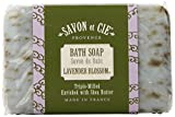 Savon et Cie Triple Milled Exfoliating Soap, 7oz (200g) bar. Made in France. With Organic Shea Butter - Lavender Blossom (Pack of 3)