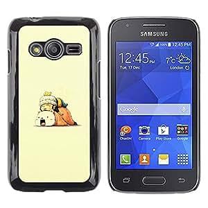CASECO - Samsung Galaxy Ace 4 - Spleey Friends - Delgado Negro Plástico caso cubierta Shell Armor Funda Case Cover - Spleey Amigos