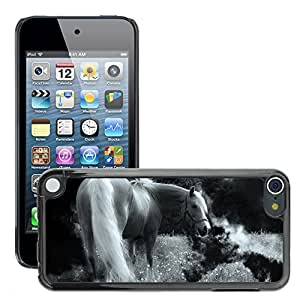 Hot Style Cell Phone PC Hard Case Cover // M00130345 Horse Animal Nature Pasture Mane // Apple ipod Touch 5 5G 5th
