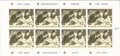Belgium - 1963 Prince Albert & Family - Booklet Pane of 8 Stamps #B746 ()