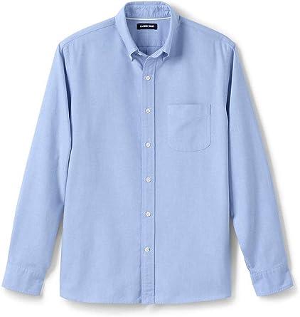 Lands End camisa Oxford para hombre con botones de ajuste tradicional