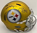 Le'Veon Bell/Antonio Brown Steelers Dual Autographed/Signed Full Size Riddell Speed BLAZE HELMET 130679