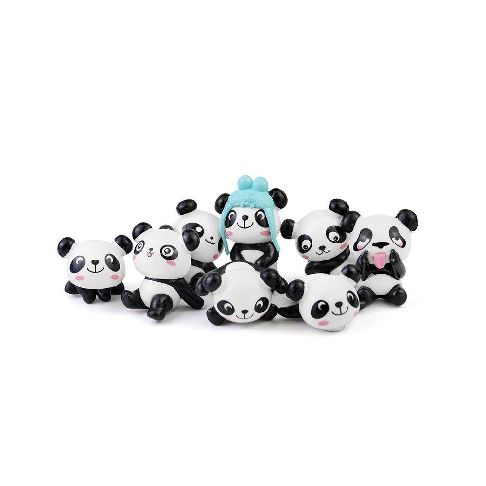 CHOP MALL 8Pcs Cute Panda Magnets Funny Animal Refrigerator Magnets for Home Fridge Decor Office Desk Decor Car Decor Kids Lovely Gifts