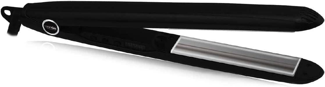HAIRON - Euphoria TITANIUM - Plancha profesional de titanio - Max 230° C. - Negra -