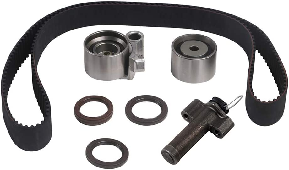 Timing Belt Water Pump Kit W//Hydraulic Tensioner/&Serpentine Belt Compatible with 2000-2004 Toyota Tundra丨1995-1998 Toyota T100丨1995-2004 Toyota Tacoma丨1996-2002 Toyota 4Runner 3.4L V6 DOHC
