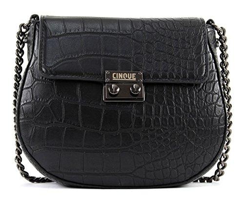 Handbag Donna Black With Flap Cinque BZwqx65x