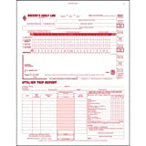 3-In-1 Driver's Daily Log, 2-Ply, Carbonless, Book Format - Stock (Qty: 10 Units)