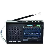 Supersonic Sc1080bt Bt 9 Band Am/FM/Sw Radio Blk - 6.10in. x 3.50in. x 1.80in, Black (SC-1080BT Black)