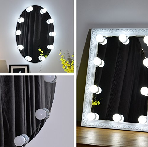 Mirrored Vanity Dressing Table Lights Led ~ Hollywood style led vanity mirror lights kit for makeup