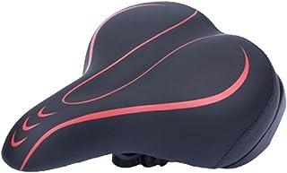 Clispeed 1pc Ispessimento della Sella della Bicicletta Cuscino Ammortizzatore Confortevole Sedile Bicicletta (Rosso)
