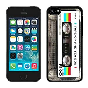 2014 New Iphone 5c TPU Case for Men Vintage Audio Cassette Design Best Black Soft Cover Mobile Phone Accessories hjbrhga1544