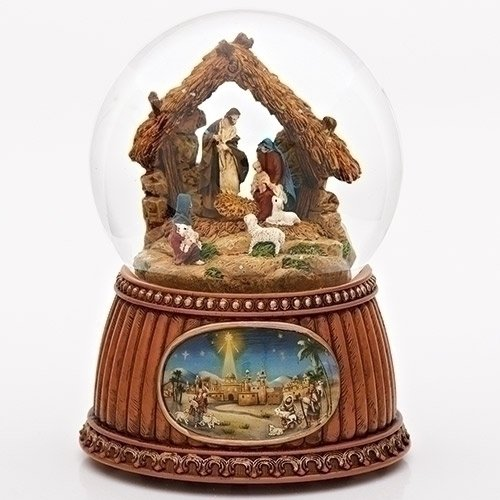 新着商品 Christmas Nativity - 100MM Tune Musical Snow Globe Glitterdome Night - Plays Tune O'Holy Night B0084H9RKA, ギーク:00025085 --- irlandskayaliteratura.org