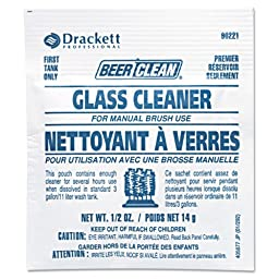 Diversey Beer Clean Glass Cleaner, Unscented, Powder, 1/2 oz. Packet - 100 1/2-ounce packets per case.