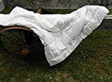 Alpaca/Wool Filled Duvet for Twin, Full, Queen or King, Natural and Sustainable 100% Organic Cotton Cover (Twin)