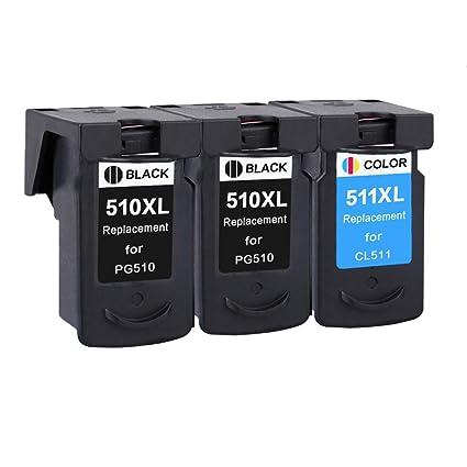 Karl Aiken PG510 CL511 - Cartuchos de Tinta para Canon Pixma MX350 ...
