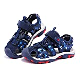 Kids Sandals Outdoor Summer Beach & Pool Sandal Fashion Boys & Girls Sport Sandal Blue