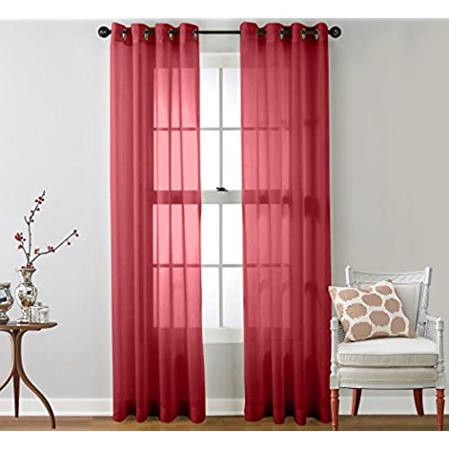 Sheer Cafe Curtains Amazon Com: Sheer Curtains For Bedroom: Amazon.com