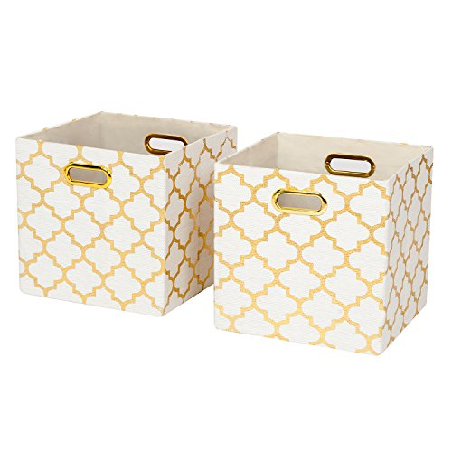Posprica Collapsible Storage Cubes Organizer Basket Bins Containers Drawers for Toy,Clothes,Laundry - 11