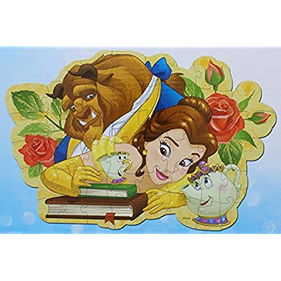 Disney Princess Beauty and The Beast Floor Puzzle 46 Pieces (24 Inches X 36 Inches): Toys & Games