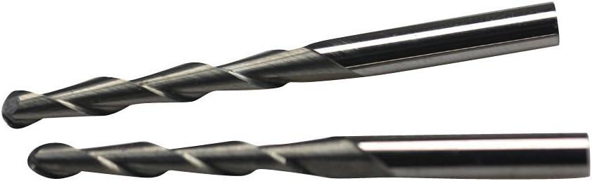 3.175mm Shank Carbide Ball Nose End Mill CNC Engraving Router Bit Set Tool 10pcs