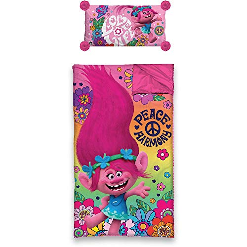 - Trolls Movie Kids Sleeping Bag and Pillow Slumber Set