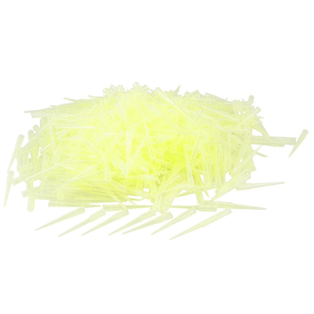 uxcell Laboratory Clear Yellow 200UL Lab Liquid Pipette Pipettor Tips 1000 Pcs