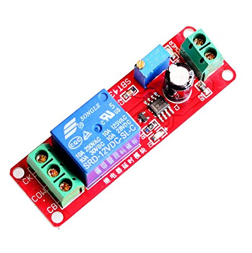 CHENBO(TM) NE555 DC 12V Delay Relay Shield Timer Switch 0~10S Adjustable Module