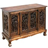 Exp 39-Inch Handmade Bamboo Forest Storage Cabinet/Sideboard Buffet, Dark Brown