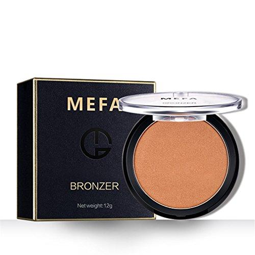 Makeup Blush Blusher Powder (Bronzer Blush Powder,Makeup Baked Powder Cheek Color Blusher(#02), MEFA)