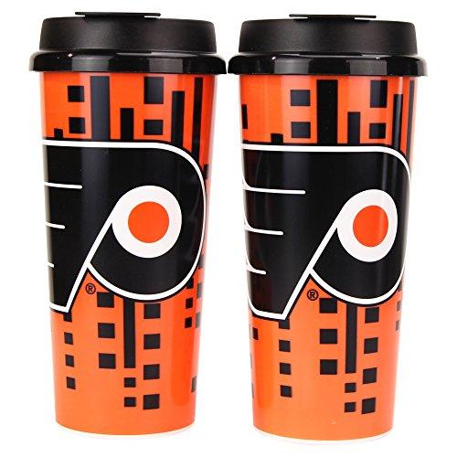(Whirley Drink Works NHL Digital Plastic 16oz Travel Mug 2 Pack (Philadelphia Flyers))