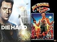 80's Classic DVD Combo Kurt Russell & Bruce Willis 2-Movie Action Bundle - Big Trouble in Little China & DIEHARD (2 DVD Set)