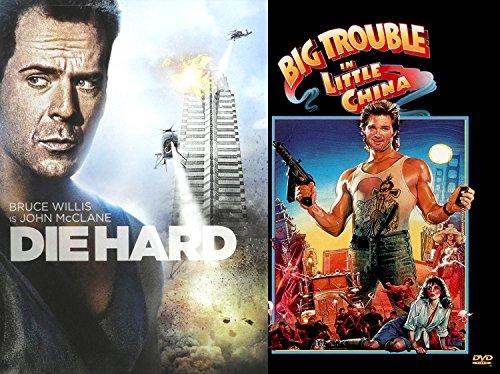 80's Classic DVD Combo Kurt Russell & Bruce Willis 2-Movie Action Bundle - Big Trouble in Little China & DIEHARD (2 DVD - Who Women Men Rim