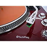 TechPlay IEP212 BLK Leatherette Anti Static turntable mat. Ultra Thin for maximun performance (TAN)