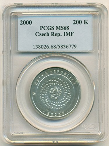 2000 CZ Czech Republic - IMF Silver 200 Korun MS68 (Silver Czech Coin)