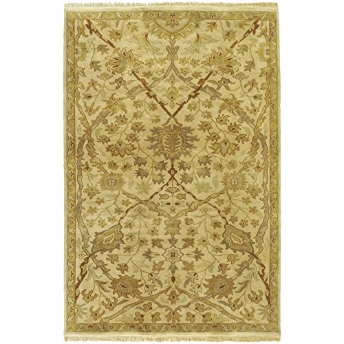 (Surya Adana IT-9006 Traditional Hand Knotted 100% Semi-Worsted New Zealand Wool Cream 8' Round Area)