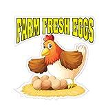 Farm Fresh Eggs Concession Restaurant Food Truck Die-Cut Vinyl Sticker 10 inches