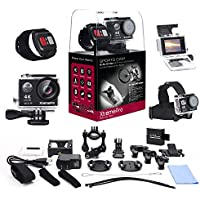 XtremePro XP4KB 4K Ultra HD Sports Camera Bundle with Wireless Wrist Remote and 20 Accessories