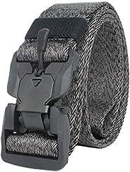 Longwu 2020 New Tactical Belt, Heavy Duty Work Nylon Canvas Elastic Belt Quick-Release with Metal Buckle