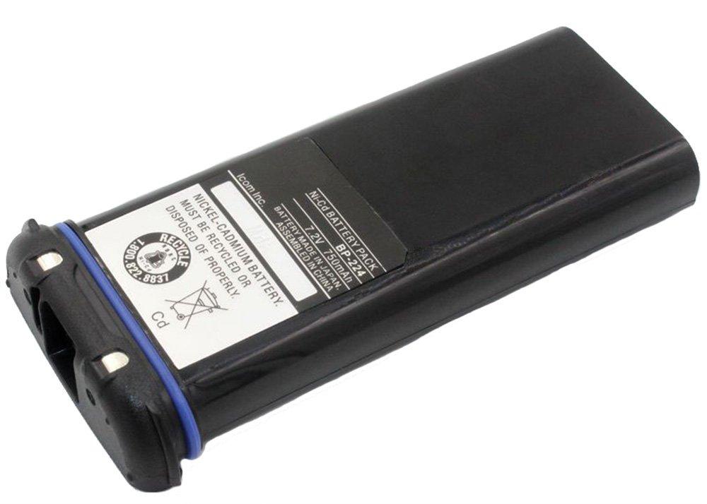 SUNDELY Battery Pack 750mAh for ICOM Handheld Marine Radio IC-M2 IC-GM1600 IC-M32 IC-M31 IC-M2A BP-224