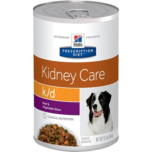 Hill's Prescription Diet k/d Kidney Care Beef & Vegetable Stew Canned Dog Food 12/12.5 oz by Hill's Pet Nutrition