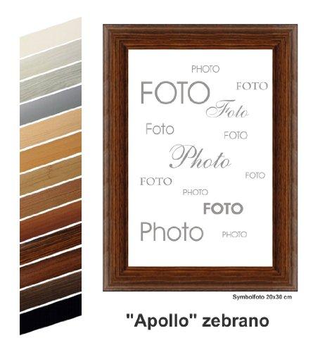 Rahmen nach Maß MDF Apollo Photo Frame with Zebrano Decor 20 x 20 cm Brown (Brown-rahmen)