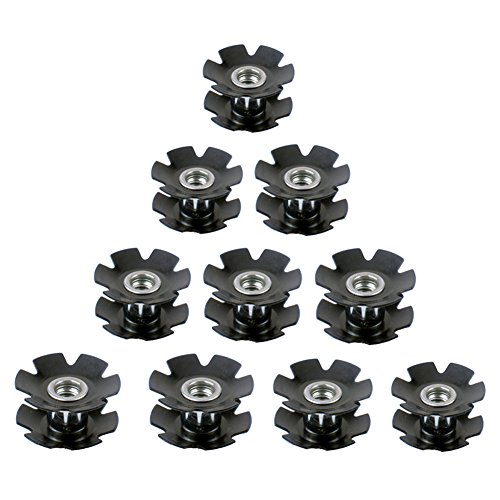 JooFn Cycling Mountain Road Bike Bicycle Headset Star Nut for Fork 1-1/8 Inch (Pack of 10)