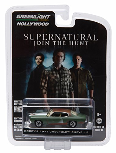 BOBBY'S 1971 CHEVROLET CHEVELLE from the hit television show SUPERNATURAL * GL Hollywood Series 14 * Greenlight Collectibles 1:64 Scale 2016 Die-Cast Vehicle
