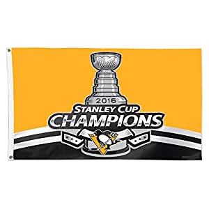 Pittsburgh Penguins 2016Stanley Cup chaimpion amarillo Flying bandera Banner 3x 5pies