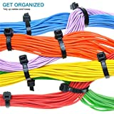 Hmrope 100pcs Cable Zip Ties Heavy Duty 8