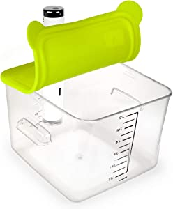 EVERIE Collapsible Silicone Lid Compatible with Breville Chefsteps Joule Cooker and Rubbermaid 12 18 22 Quart Sous Vide Container