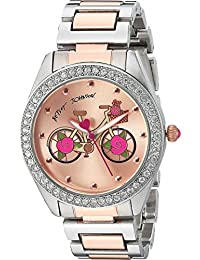Betsey Johnson Women's BJ00611-17 - Two-Tone Rose Inner Face Rose Gold/Silver Watch