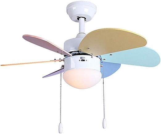 Ventilador techo Luz De Interruptor/Iluminación Interior/Lámpara/Luces/Lámparas/Sala De Estar/Dormitorio/Cocina/Habitación Infantil xiuyun (Size : 30inch): Amazon.es: Hogar
