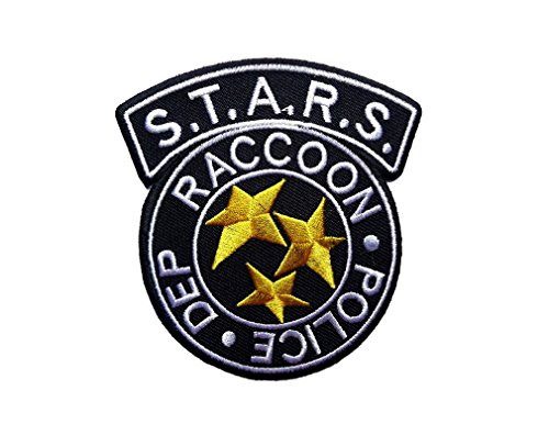 Bsaa Costume (Hook Black Raccoon STARS Department Resident Evil Shoulder Costume Jacket Tactical Gear Patch)