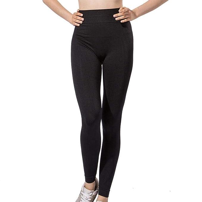 1b0fceb8c9eef Pantalones Yoga Cintura Alta Leggings Yoga Control Barriga No Ver A Través  - Leggings Deportivos Medias Pantalones Transpirable Y Secado Rápido Mujeres .